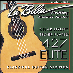 La Bella Classical Nylon Guitar Strings - Clear & Silver, 3 Sets