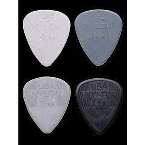 Dunlop Standard Nylon Picks - .73mm Grey, bag of 72