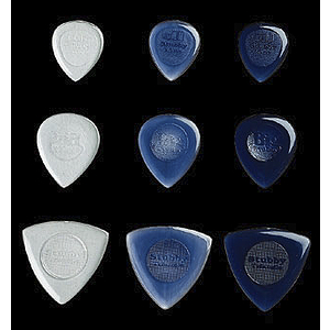 Dunlop Stubby Picks - 3.0mm Dark Purple, bag of 24