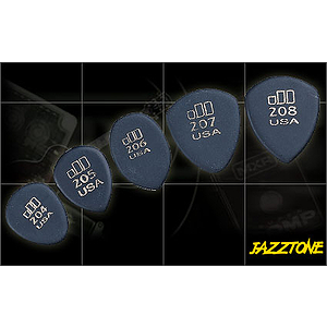 Dunlop Jazztone 206 Picks - Medium Pointed, bag of 36