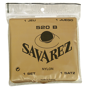 Savarez 520B White Card Classical Nylon Guitar Strings - Low Tension, 3 Sets