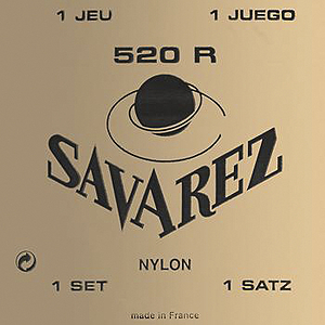 Savarez 520R Red Card Classical Nylon Guitar Strings - High Tension, 3 Sets