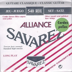 Savarez 540R Alliance Classical Nylon Guitar Strings - Standard tension, 3 Sets
