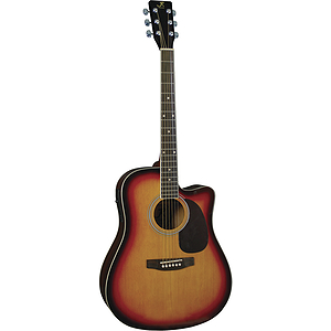 J. Reynolds Dreadnought Acoustic-Electric Guitar - Sunburst