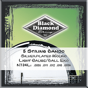 Black Diamond N734L 5-string Banjo Strings