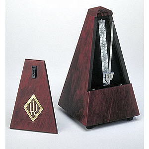 Wittner Wood Case Metronome w/ Bell and Cover - Mahogany