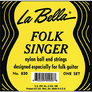 La Bella Folk Singer Nylon Guitar Strings - Ball-end, 3 Sets