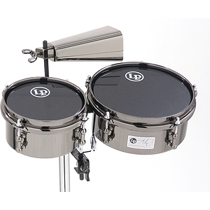 Latin Percussion 845-JD Mini Timbales with Cowbell