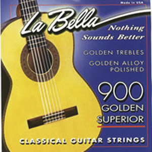 La Bella Classical Gold Guitar Strings - Gold, 3 Sets