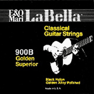 La Bella Classical Gold Guitar Strings - Black, 3 Sets