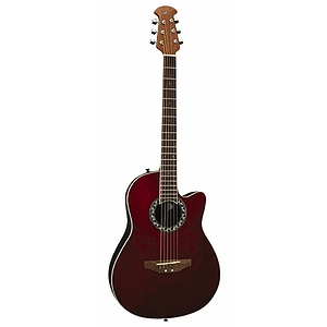 Applause AA13 Mini-Bowl 3/4 Size Steel String Acoustic Guitar - Ruby Red