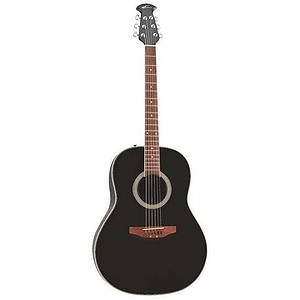 Applause AA21 Acoustic Guitar in Black