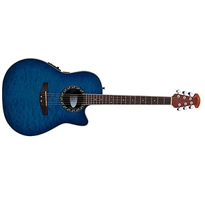 Applause AE128 By Ovation Acoustic Electric Guitar in Trans Blue