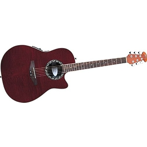 Applause AE128 Super Shallow Acoustic-Electric Guitar Red Figured Mahogany