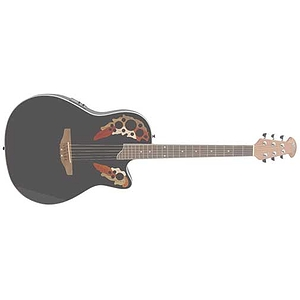 Applause AE148 Super Shallow Acoustic Electric Guitar Black