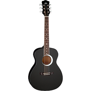 "Luna Aurora Borealis 36"" Children's Acoustic Guitar - Black"