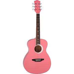 "Luna Aurora Borealis 36"" Children's Acoustic Guitar - Pink"