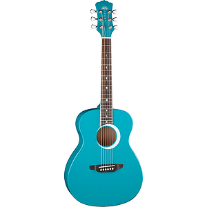 "Luna Aurora Borealis 36"" Children's Acoustic Guitar - Blue"