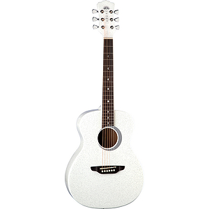 "Luna Aurora Borealis 36"" Children's Acoustic Guitar - White"