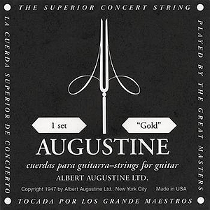 Augustine Classical Nylon Guitar Strings - Black/Gold, 3 Sets