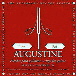 Augustine Classical Nylon Guitar Strings - Imperial Red, 3 Sets