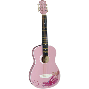 Luna Faerie Children&#039;s Mini-Acoustic Guitar - Pink with Fairy Design