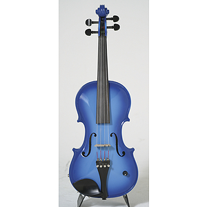 Barcus-Berry Vibrato-AE Series Electric Violin - Blue