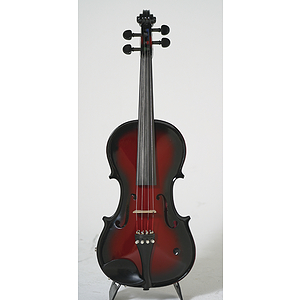 Barcus-Berry Vibrato-AE Series Electric Violin - Red-Berry Burst