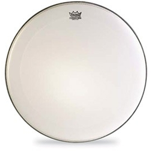 Remo Smoth White Emperor Marching Bass Drum Head - 28""