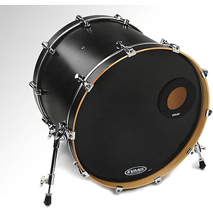 Evans EMAD Black Resonant Bass Drum Head - 24""
