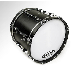 """Evans MX1 White Marching Bass Drum Head - 28"""""""
