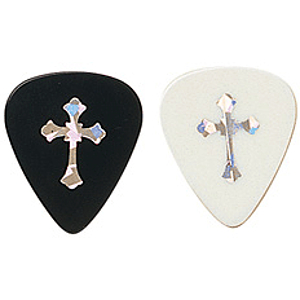 D'Andrea Christian Picks - Various Christian Symbols, Black, Thin Gauge, Box of 144