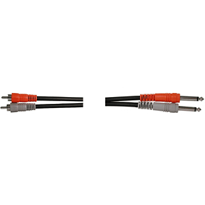 "Hosa 1/4""-RCA(2) Cable, 10-foot"