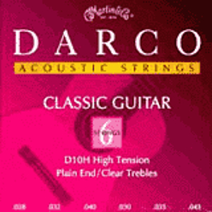Darco Classical Nylon Guitar Strings - Plain End, High Tension, 3 Sets