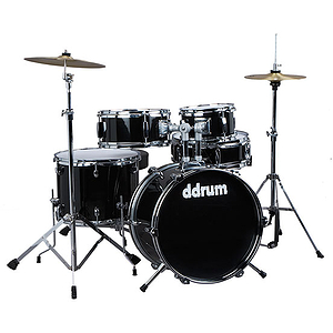 ddrum D1 5-Piece Junior Drum Set with Cymbals - Black