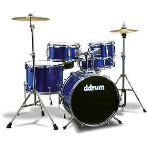 ddrum D1 5-Piece Junior Drum Set with Cymbals - Blue