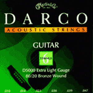 Darco Bronze Acoustic Guitar Strings - Extra Light, 3 Sets