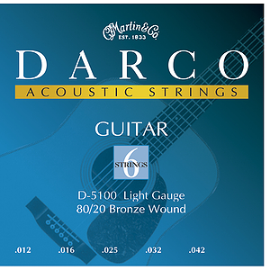 Darco Bronze Acoustic Guitar Strings - Light, 3 Sets