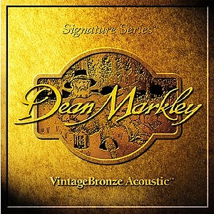 Dean Markley Vintage Bronze Acoustic Guitar Strings - Tr. Light, 3 Sets