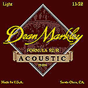 Dean Markley Formula 82/R Acoustic Guitar Strings - Medium Light - 3 sets of strings