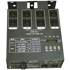 MBT DMX2X4 4-Channel DMX Dimmer Pack with 8 inputs