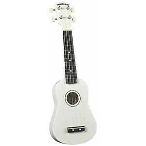 Diamond Head Soprano Ukulele - White