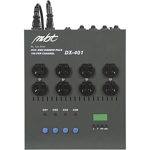 MBT 4-Channel DMX Dimmer Pack with 8 inputs