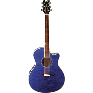 Dean EFM-TBL Exotica FM Acoustic Electric Guitar - Translucent Blue