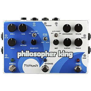 Pigtronix Philosopher King Compression &amp; Distortion Pedal
