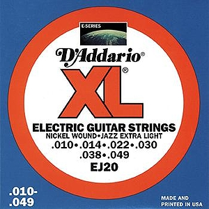 D'Addario EJ20 Electric Jazz Guitar Strings - Nickel Round Wound, Extra Light, 3 Sets