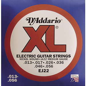 D'Addario EJ22 Electric Jazz Guitar Strings - Nickel Round Wound, Medium, 3 Sets