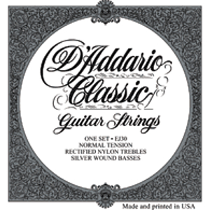 D'Addario EJ30 Classic Folk Nylon Guitar Strings - Normal Tension - 3 Sets