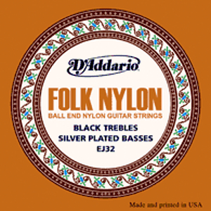 D'Addario EJ32 Classic Folk Nylon Guitar Strings - Normal Tension - 3 Sets