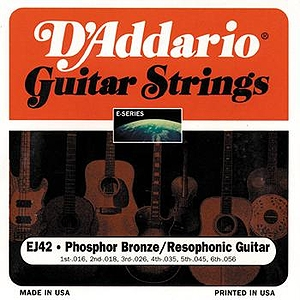 D&#039;Addario EJ42 Resonator Guitar Strings - Phosphor Bronze, Resophonic, 3 Sets